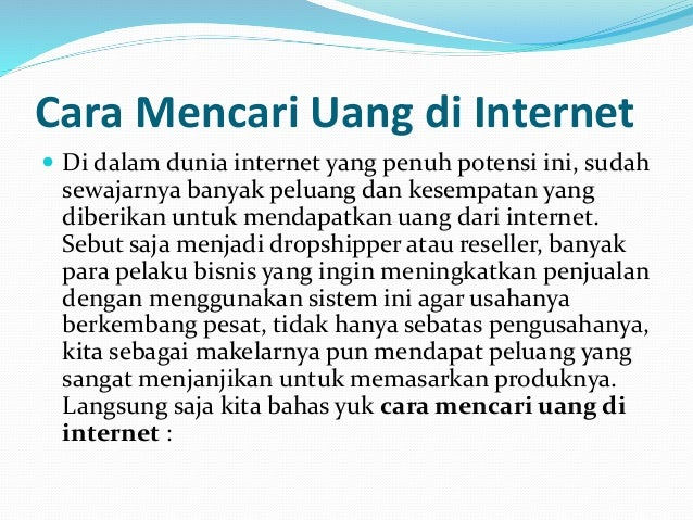 Image Result For Mencari Uang Di Internet