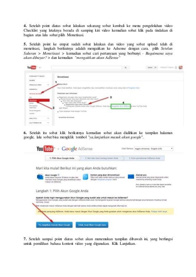 Cara mendaftar youtube adsense