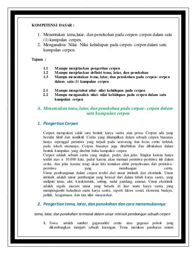 Cara Menemukan Unsur Intrinsik Dalam Cerpen Bahasa Indonesia