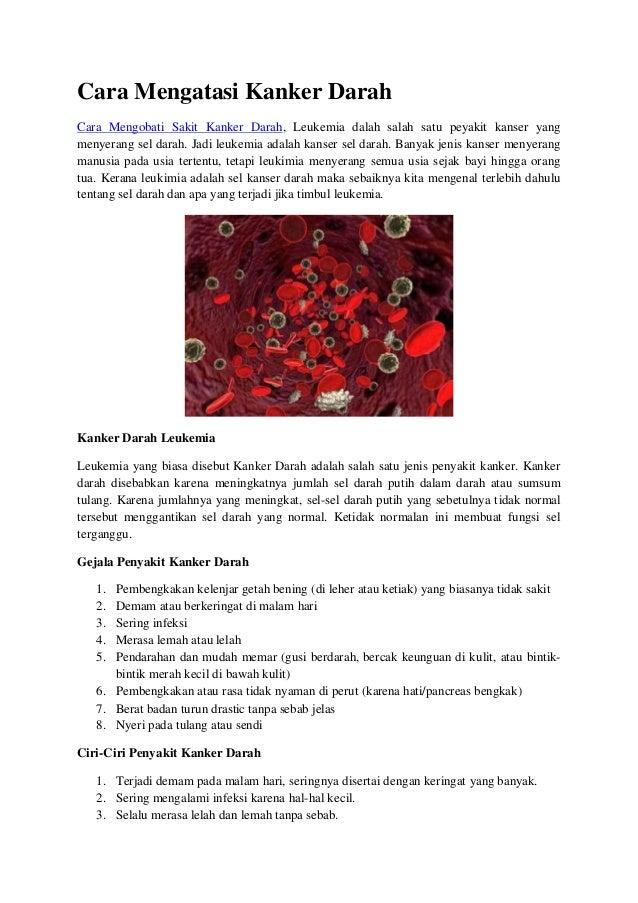Cara mengatasi kanker darah