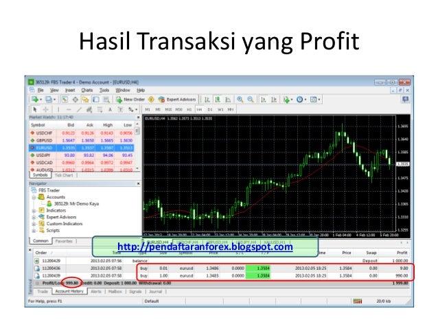 Hasil Transaksi yang Profit   http://pendaftaranforex.blogspot.com