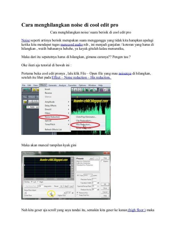 cool edit pro 2.1 tutorial