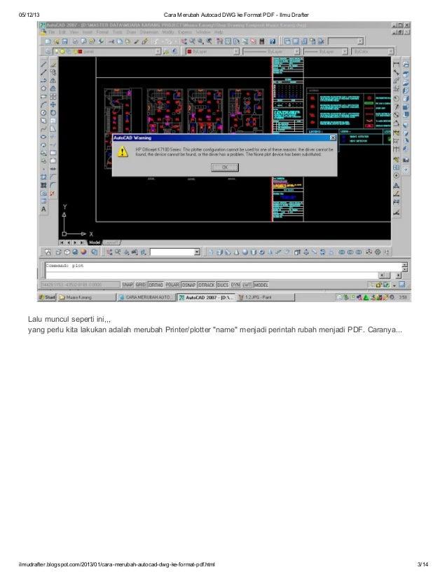 Cara merubah autocad dwg ke format pdf