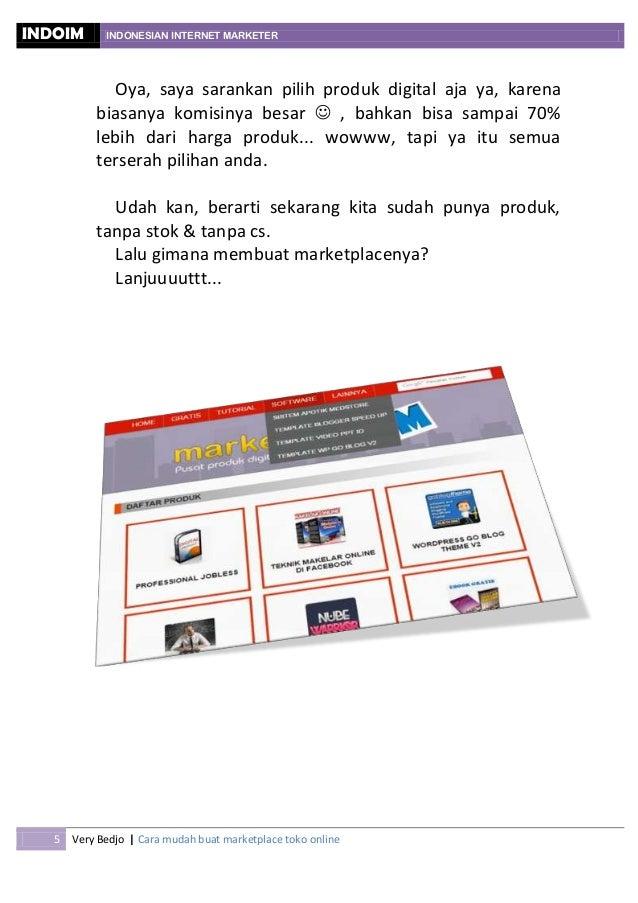 Cara mudah membuat marketplace toko online sendiri