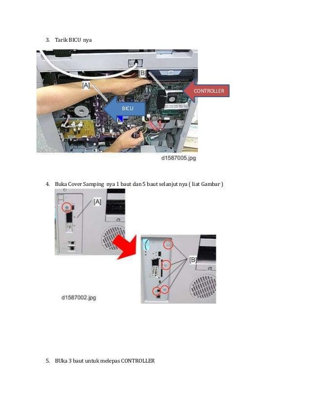 Cara pasang modul fax di mesin mp2501 Slide 2