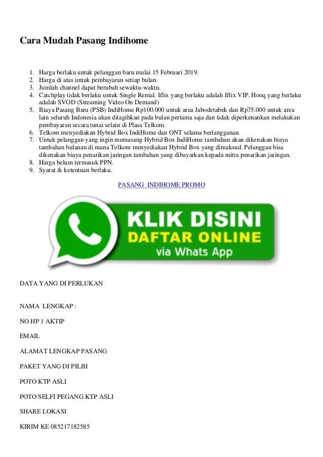 Cara Pasang Wifi Id Indihome Bandung