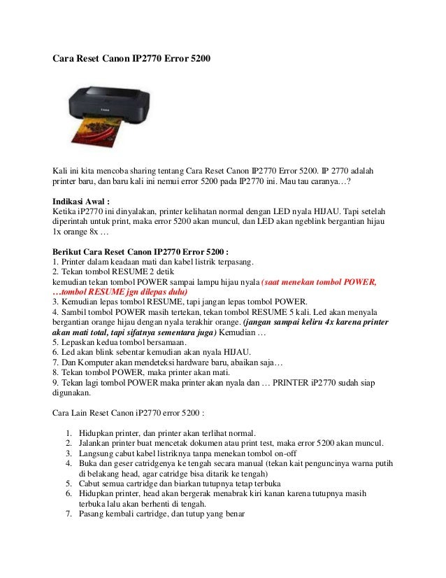 Cara penggunaan resetter ip2770