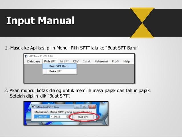 Cara Pengisian E-SPT PPh Pasal 21