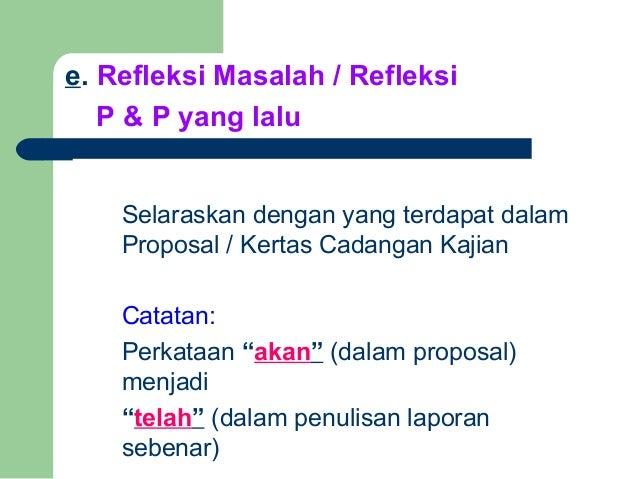 Cara penulisan laporan kajian tindakan 2006