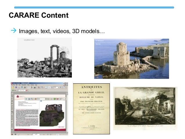 CARARE Content  Images, text, videos, 3D models…