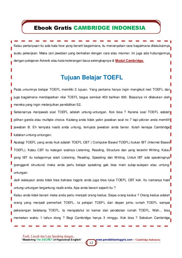 Ebook Toefl Indonesia