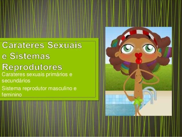 Carateres sexuais primários e secundários Sistema reprodutor masculino e feminino