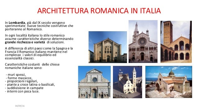 Il romanico caratteri generali for Architettura razionalista in italia