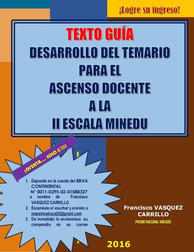 Texto gu a para la evalauci n docente al ascenso de escala for Plazas de docentes 2016