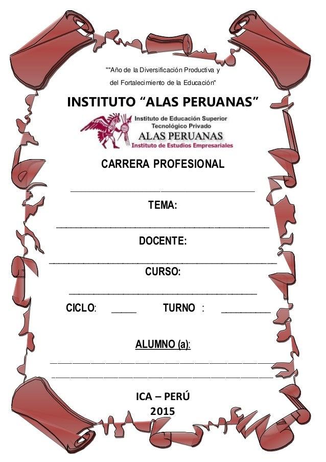 Caratulas De La Uap Imagui Universidad Alas Peruanas Examen Peruanas Tacna