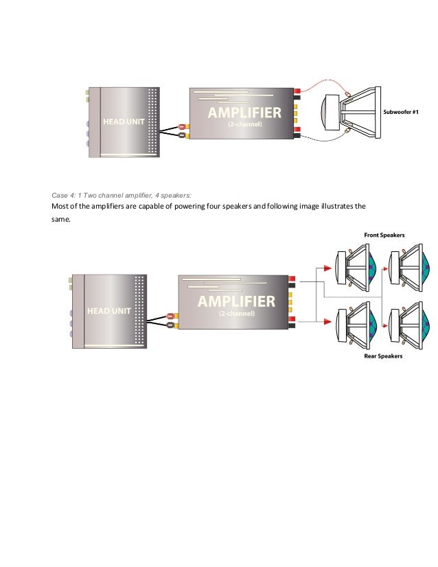 car audio guide how to connect a 2 channel amplifier rh slideshare net 2 Channel Car Amp Wiring Diagram Home in the Car Amp Wiring Diagram