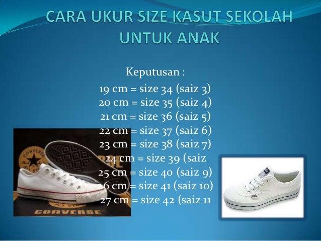 Cara Ukur Size Kasut Sekolah Untuk Anak