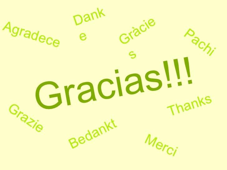 Gracias!!! Thanks Agradece Pachi Merci Grazie Danke Bedankt Gràcies