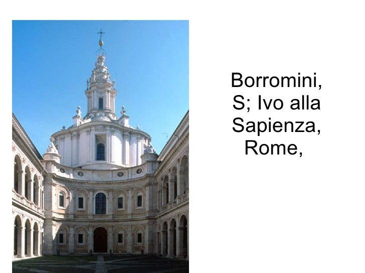 Borromini, S; Ivo alla Sapienza, Rome,