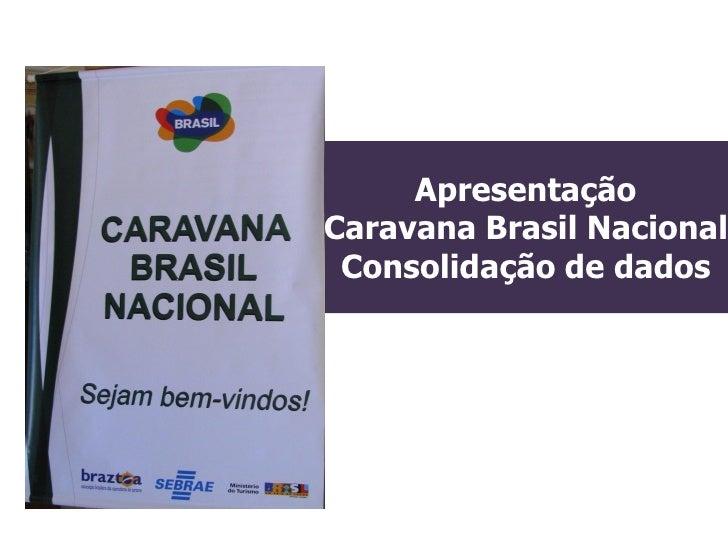 ApresentaçãoCaravana Brasil Nacional Consolidação de dados