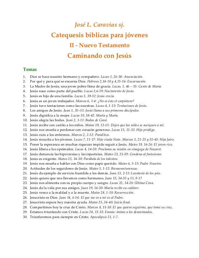 Jose Luis Caravias Sj Catequesis Biblica Para Jovenes Nt