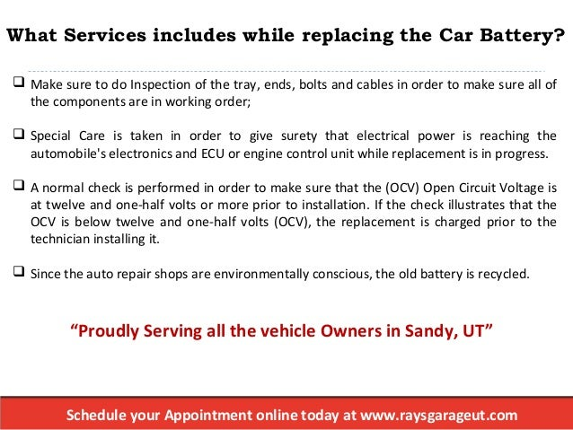 Ray's Garage, Inc: Want To Know On How To Change A Car