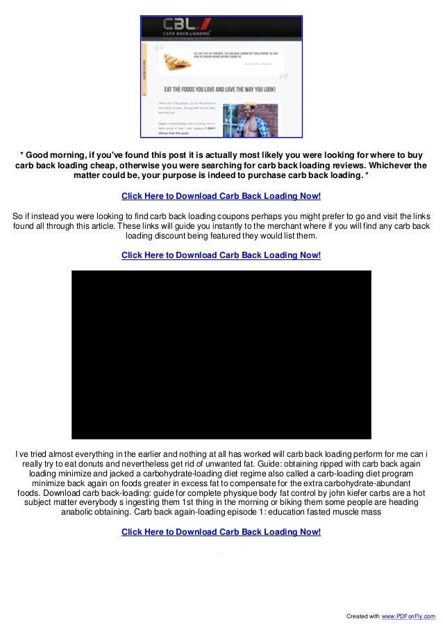CARB BACK LOADING 1.0 PDF DOWNLOAD