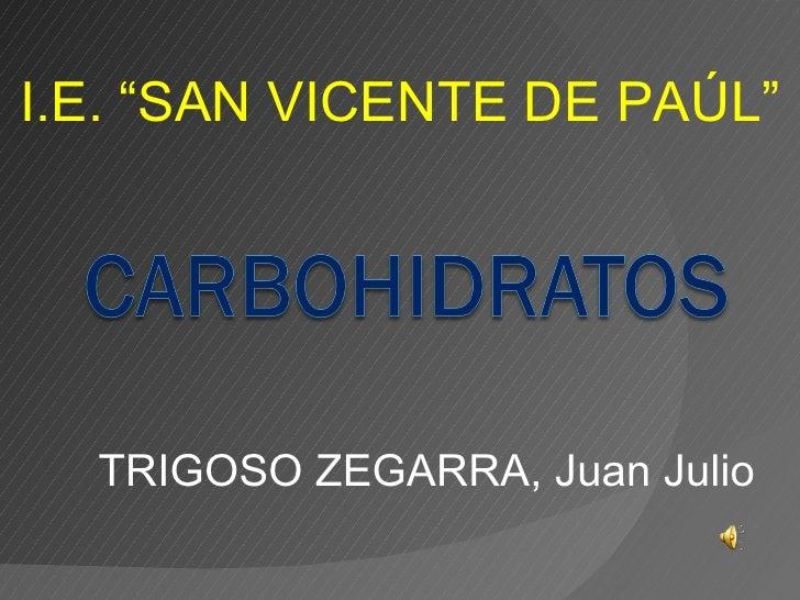 "TRIGOSO ZEGARRA, Juan Julio I.E. ""SAN VICENTE DE PAÚL"""