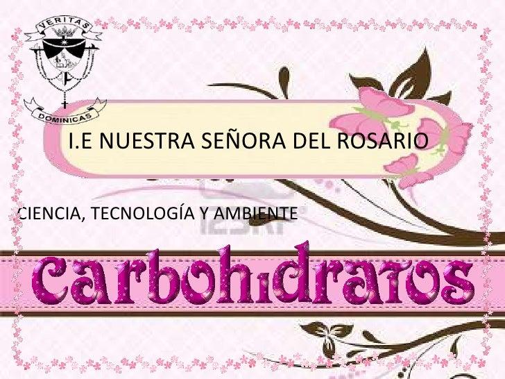 I.E NUESTRA SEÑORA DEL ROSARIO<br />CIENCIA, TECNOLOGÍA Y AMBIENTE<br />