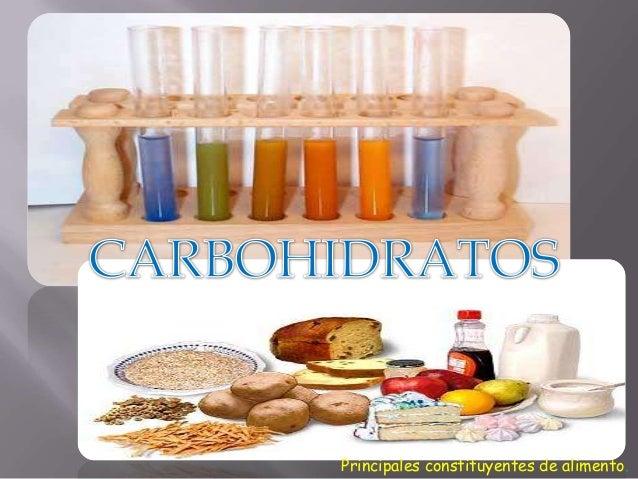 Principales constituyentes de alimento.