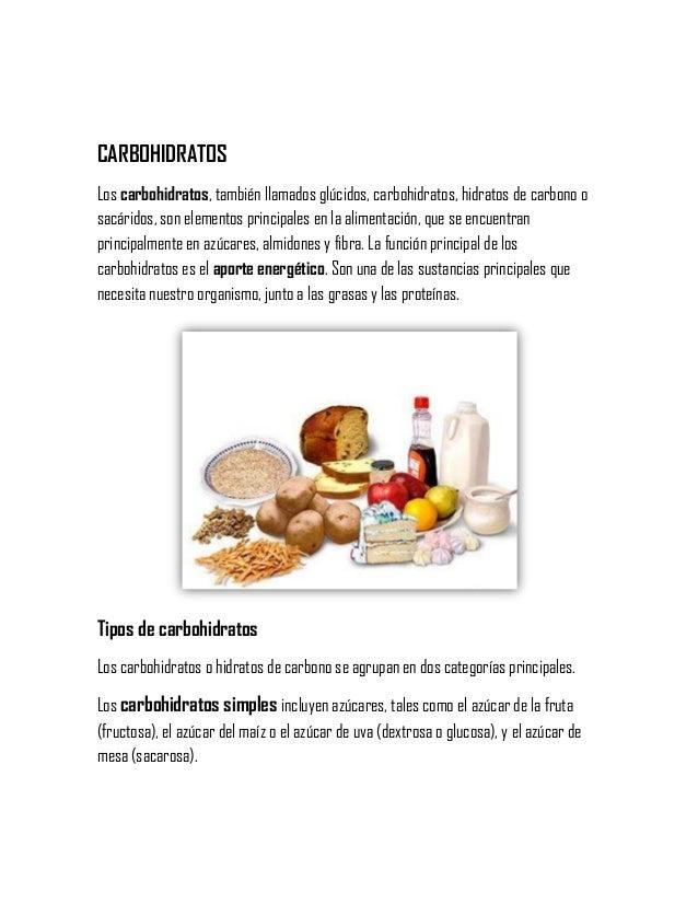 CARBOHIDRATOS Los carbohidratos, también llamados glúcidos, carbohidratos, hidratos de carbono o sacáridos, son elementos ...