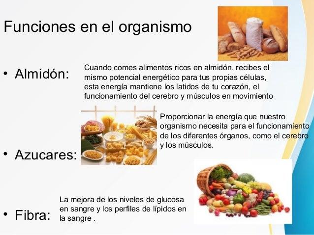 Carbohidratos - Alimentos que tienen fibra ...