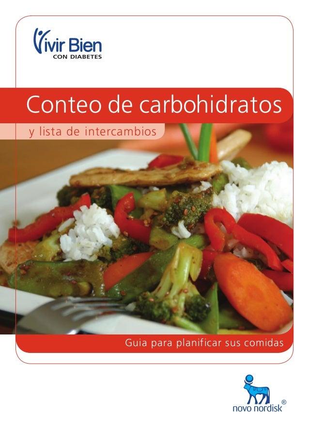 Guia para planificar sus comidas y lista de intercambios Conteo de carbohidratos