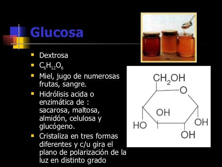 Resultado de imagen de la dextrosa o glucosa, es un azúcar que desvía el plano de polarización a la derecha) …