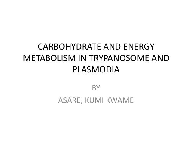 CARBOHYDRATE AND ENERGY METABOLISM IN TRYPANOSOME AND PLASMODIA BY ASARE, KUMI KWAME