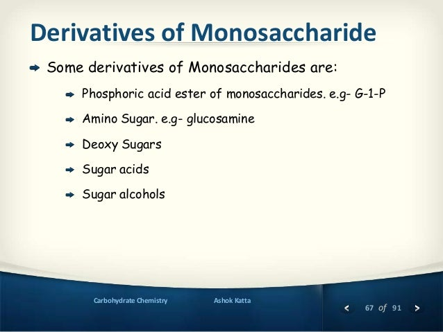 Lecture 2. Examples of important carbohydrates and its derivatives.