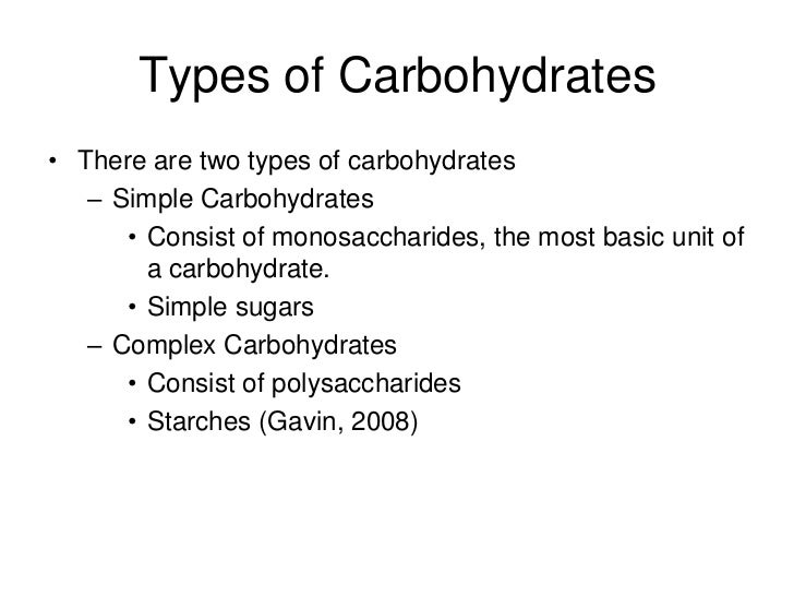 carbohydrate presentation, Human Body
