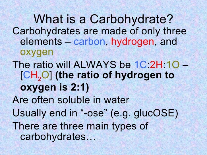 carbohydrates, Human body