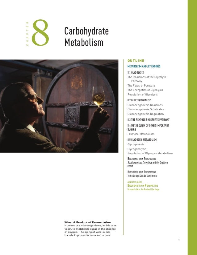 Carbohydrate Metabolism8CHAPTER OUTLINE METABOLISMANDJETENGINES 8.1 GLYCOLYSIS The Reactions of the Glycolytic Pathway The...