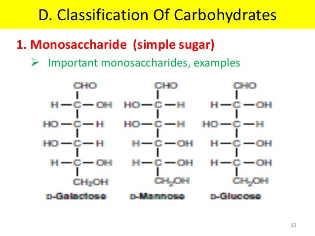 Carbohydrates structure and classification pdf