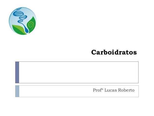 Carboidratos Profº Lucas Roberto