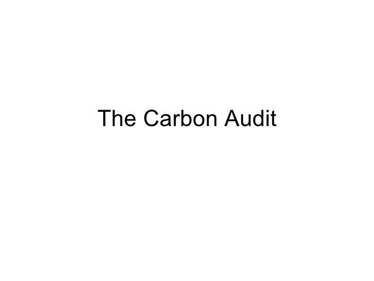 The Carbon Audit