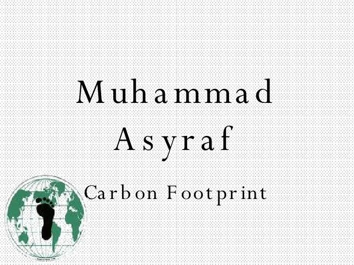 Muhammad Asyraf Carbon Footprint