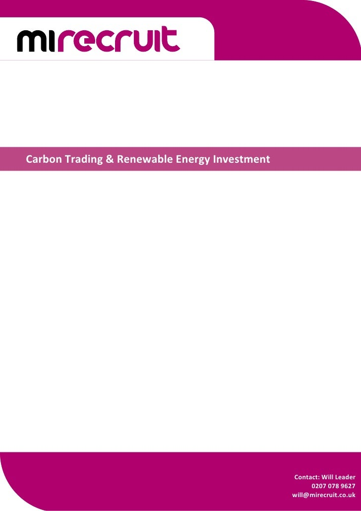CarbonTrading&RenewableEnergyInvestment                                                      Contact:WillLe...