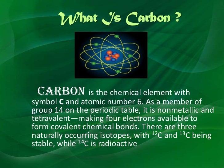 Essay on carbon