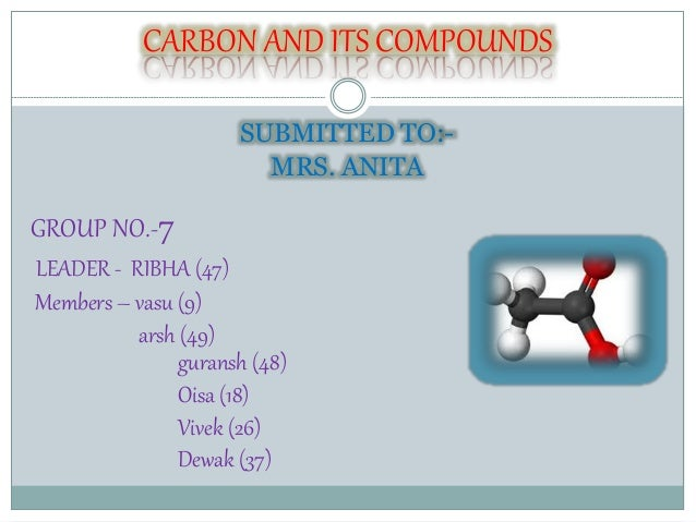 carbon compounds essay Organic chemistry deals with almost all carbon-containing compounds learn their properties, composition, classification, applications, with examples at byju's.