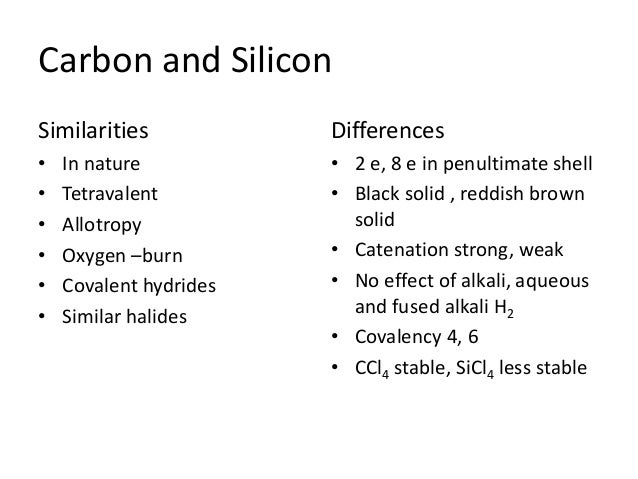 Carbon And Silicon1