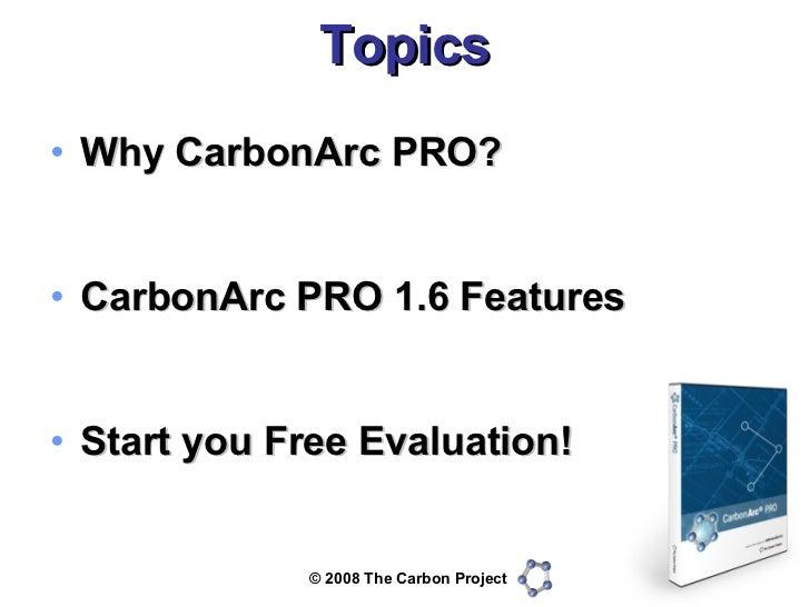 CarbonArc PRO 1.6 Preview Slide 2