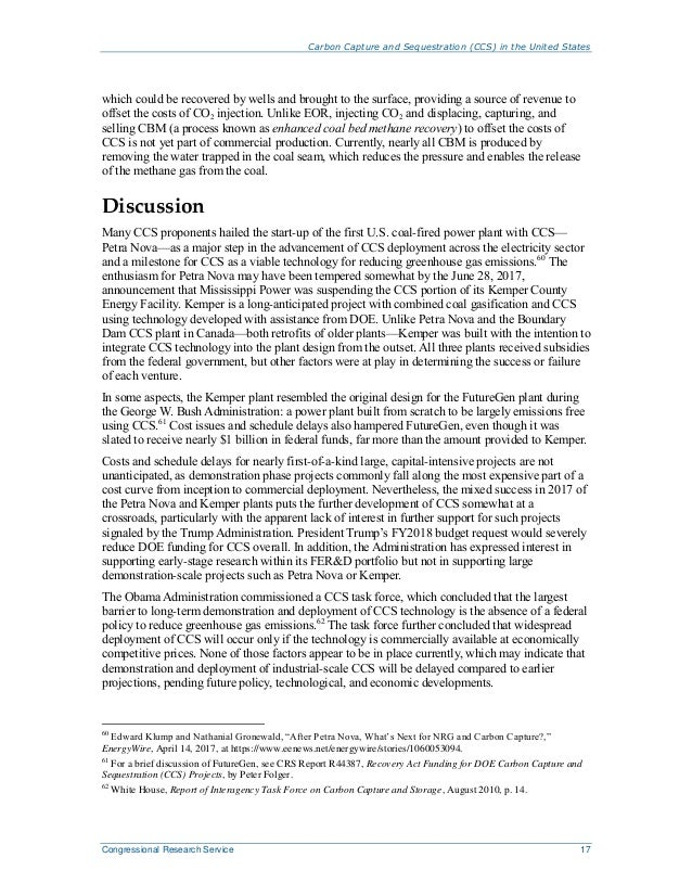 Carbon Capture and Sequestration (CCS) in the United States Congressional Research Service 17 which could be recovered by ...