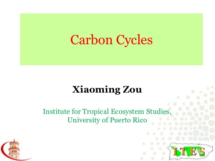 Carbon Cycles<br />Xiaoming Zou<br />Institute for Tropical Ecosystem Studies, University of Puerto Rico<br />
